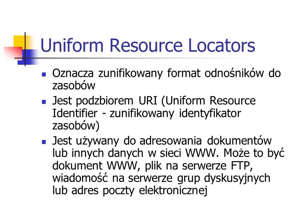 Uniform Resource Locators
