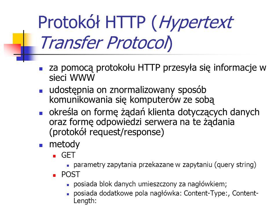 Protokół HTTP (Hypertext Transfer Protocol)