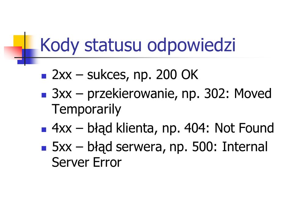 Kody statusu odpowiedzi