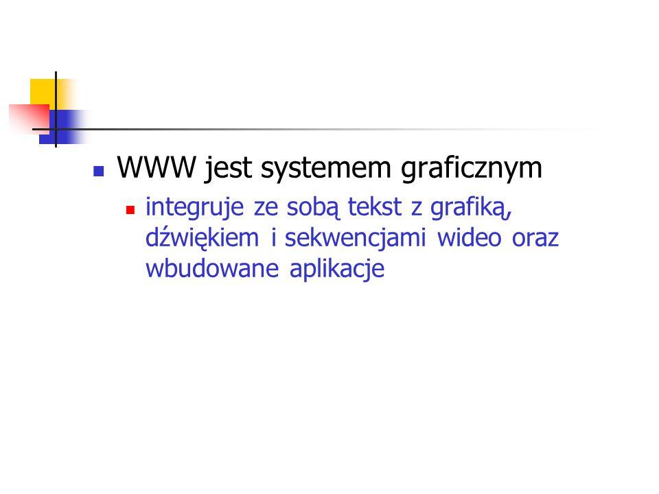 WWW jest systemem graficznym