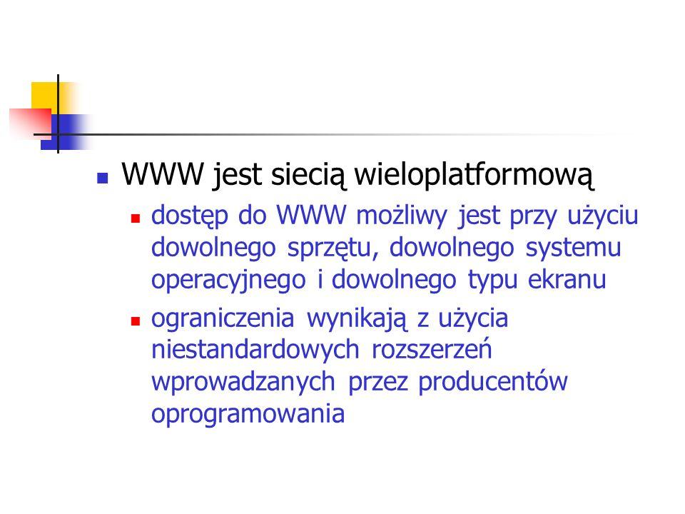 WWW jest siecią wieloplatformową