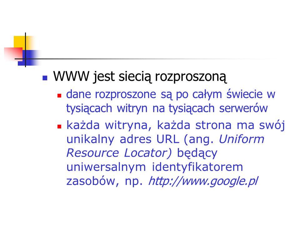 WWW jest siecią rozproszoną