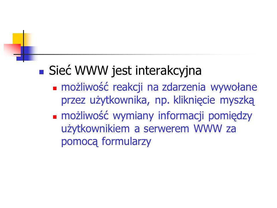Sieć WWW jest interakcyjna