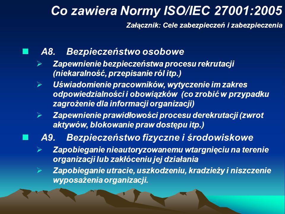 Co zawiera Normy ISO/IEC 27001:2005