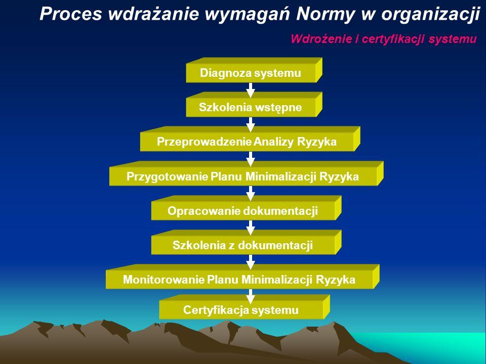 Proces wdrażanie wymagań Normy w organizacji