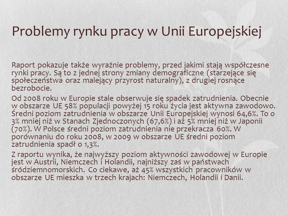 Problemy rynku pracy w Unii Europejskiej