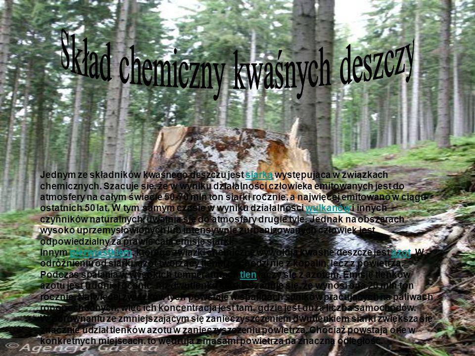 Skład chemiczny kwaśnych deszczy