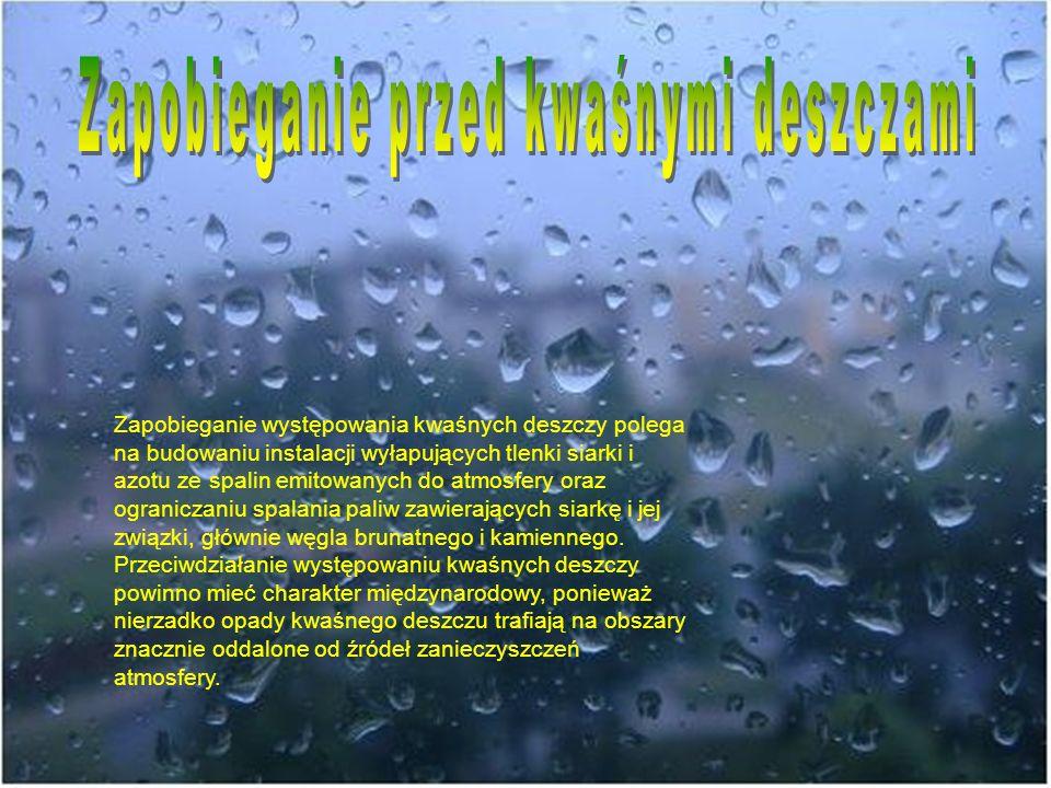 Zapobieganie przed kwaśnymi deszczami