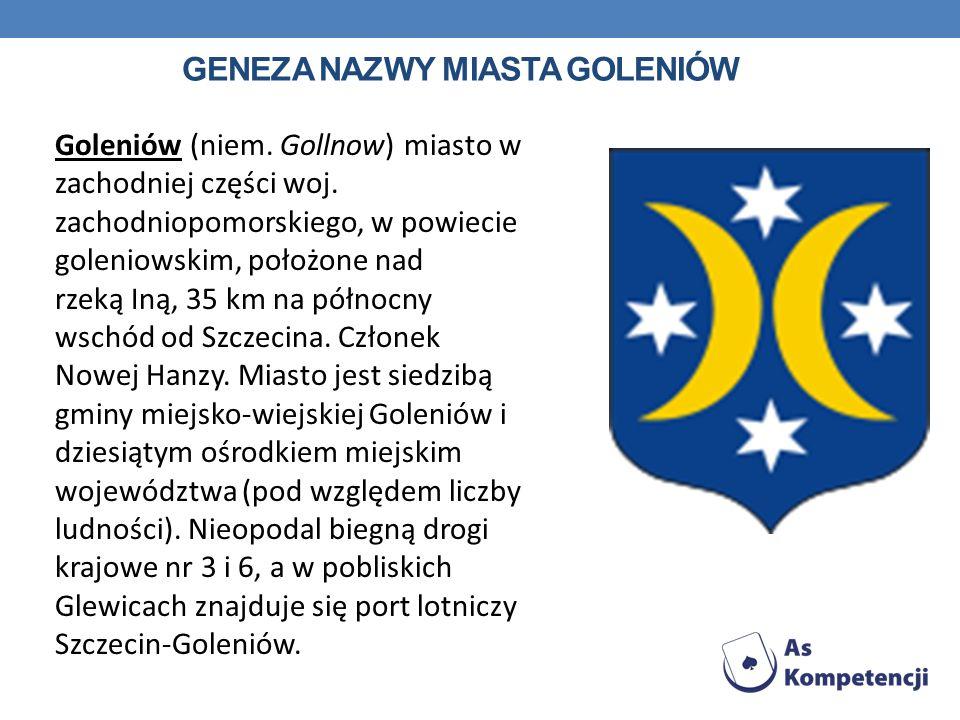 geneza nazwy miasta Goleniów