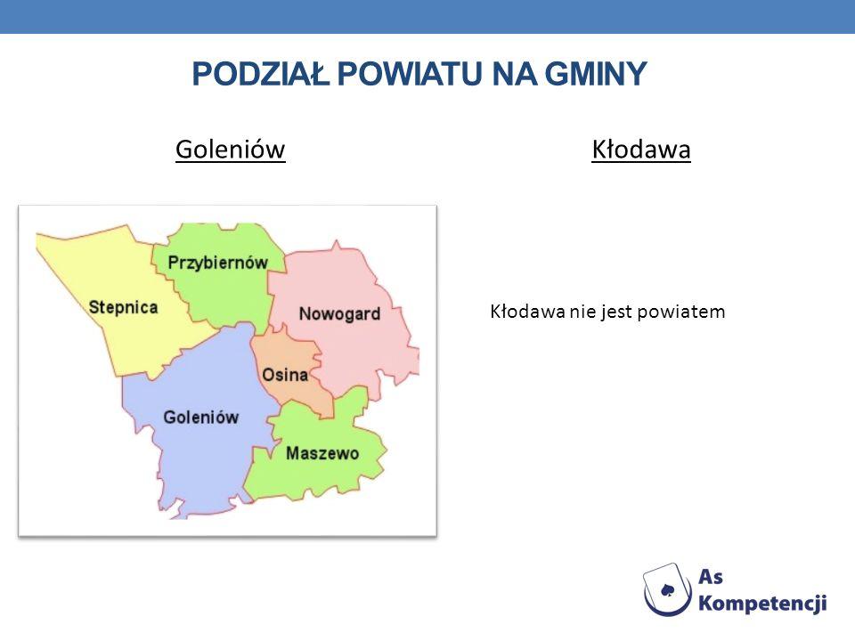 Podział powiatu na gminy