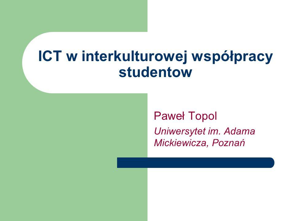 ICT w interkulturowej współpracy studentow