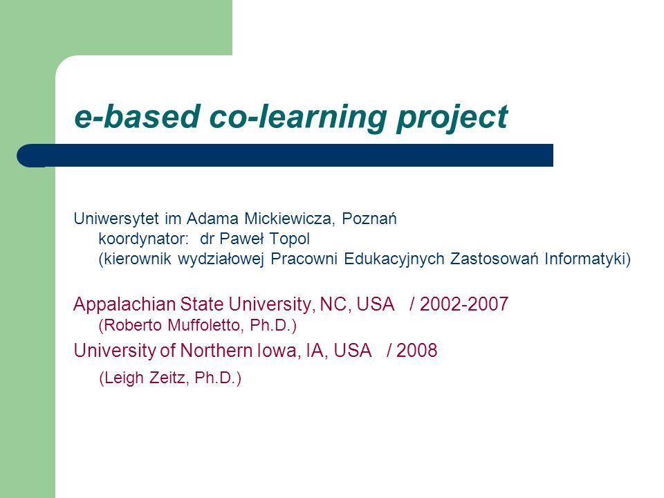 e-based co-learning project
