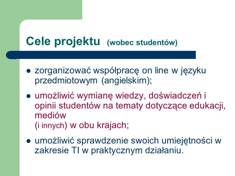 Cele projektu (wobec studentów)