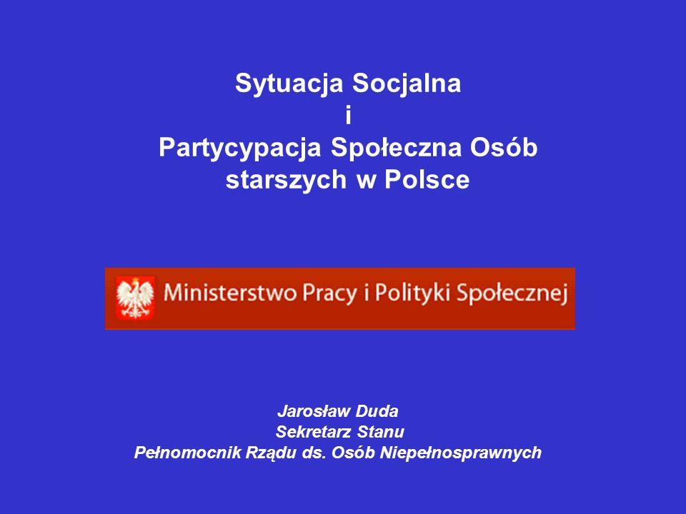 Sytuacja Socjalna i Partycypacja Społeczna Osób starszych w Polsce