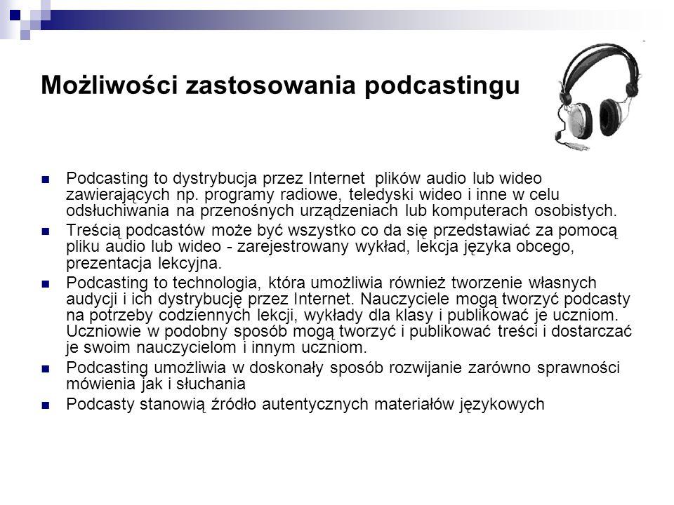Możliwości zastosowania podcastingu