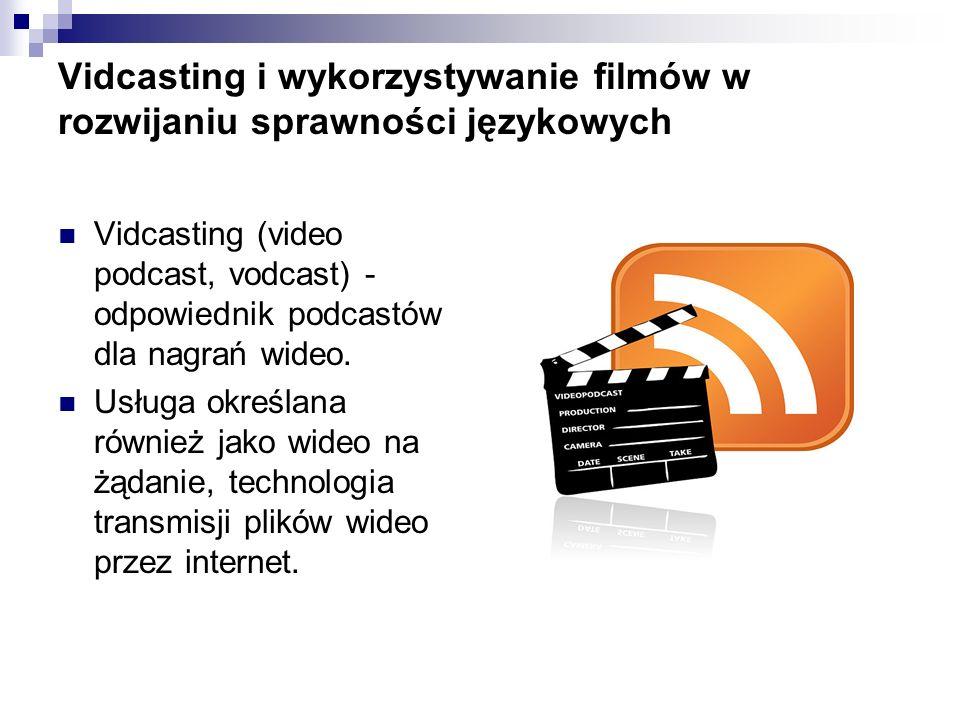 Vidcasting i wykorzystywanie filmów w rozwijaniu sprawności językowych