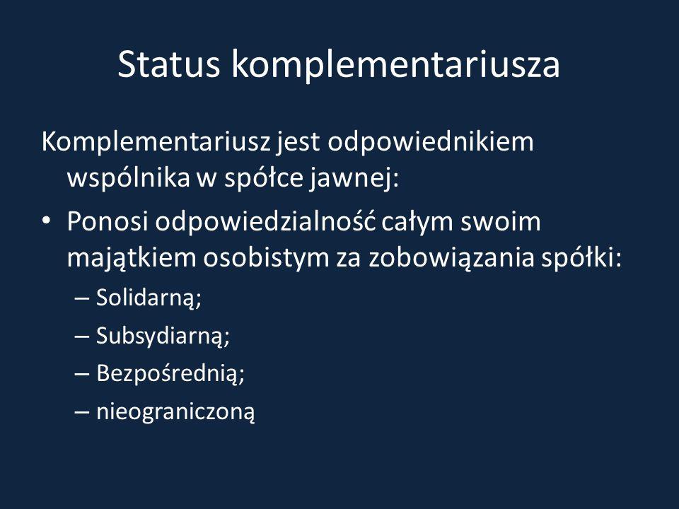 Status komplementariusza