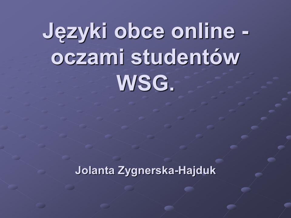 Języki obce online - oczami studentów WSG.