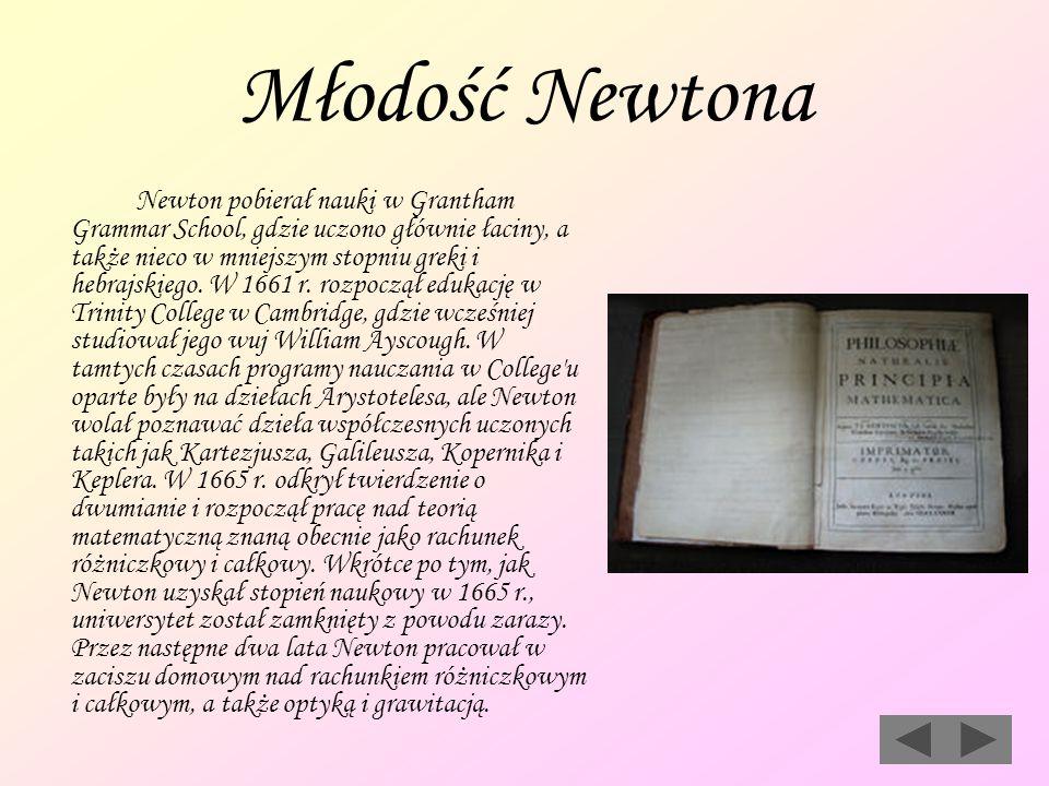 Młodość Newtona