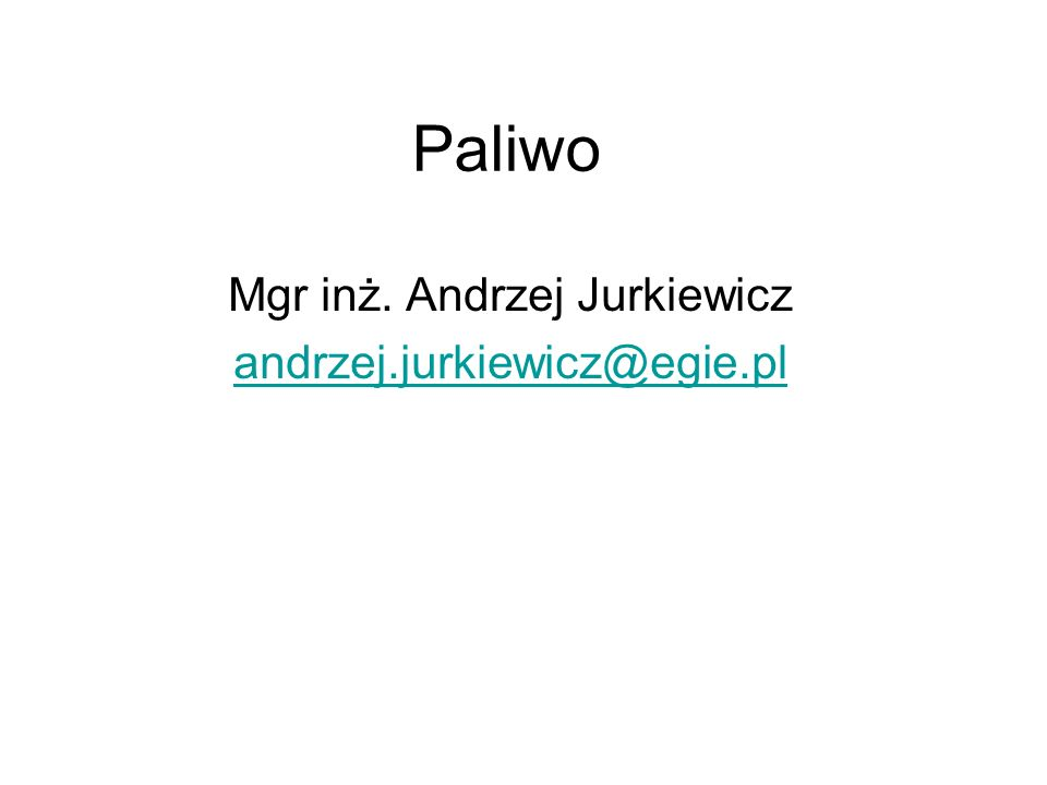 Mgr inż. Andrzej Jurkiewicz andrzej.jurkiewicz@egie.pl