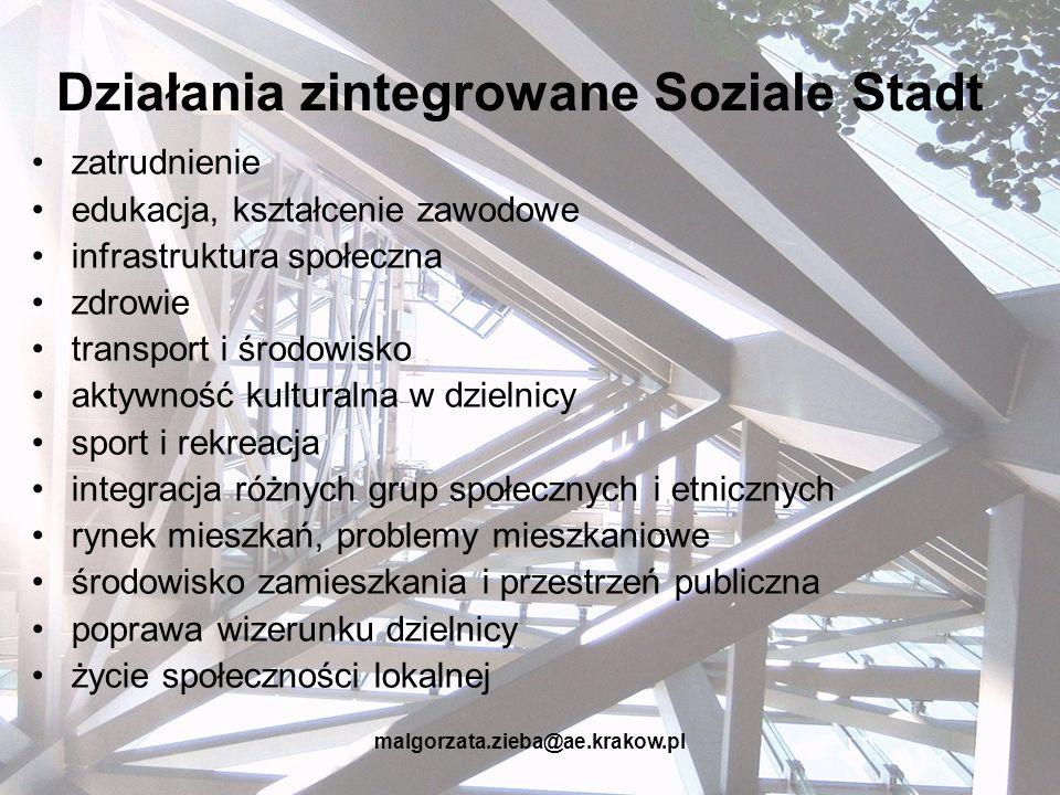 Działania zintegrowane Soziale Stadt