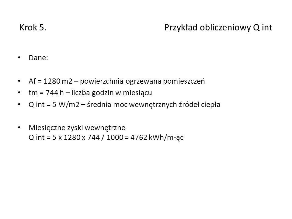 Krok 5. Przykład obliczeniowy Q int