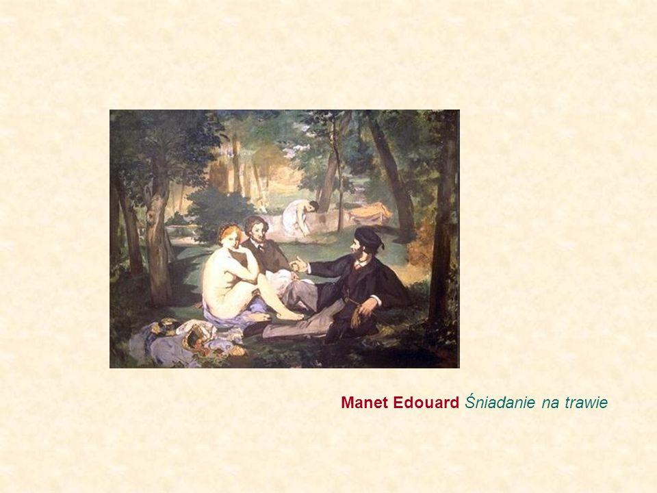 Manet Edouard Śniadanie na trawie