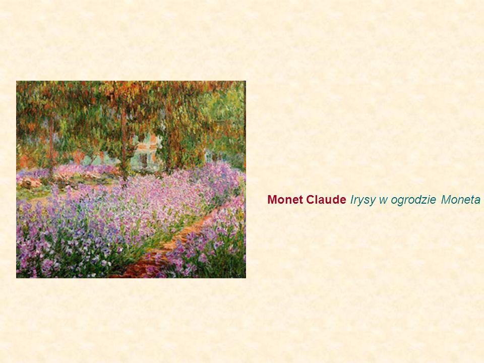 Monet Claude Irysy w ogrodzie Moneta