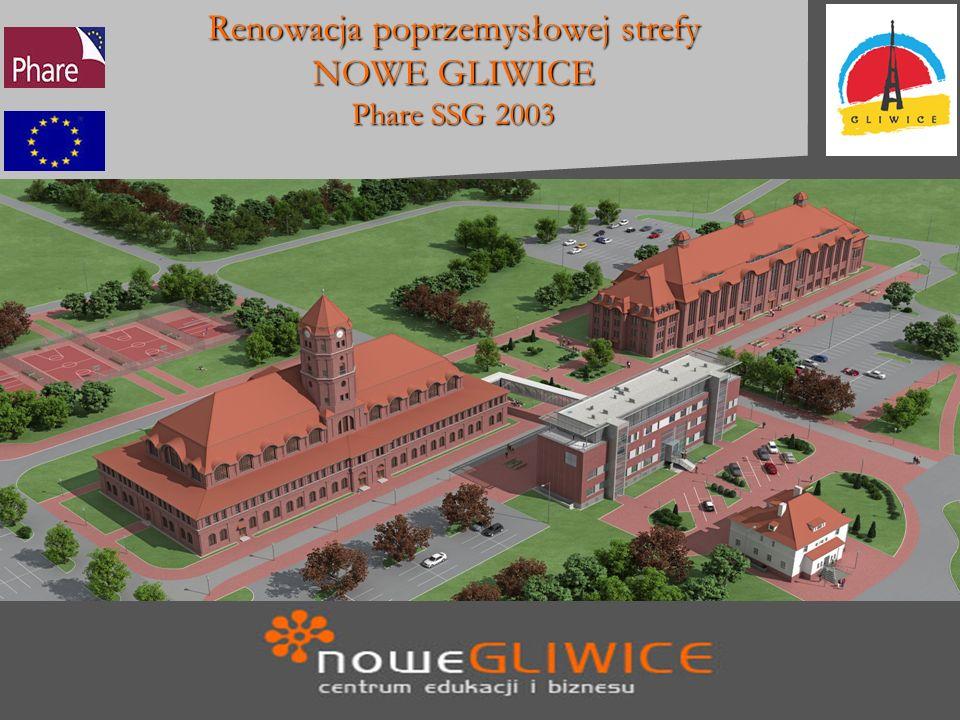 Renowacja poprzemysłowej strefy NOWE GLIWICE Phare SSG 2003