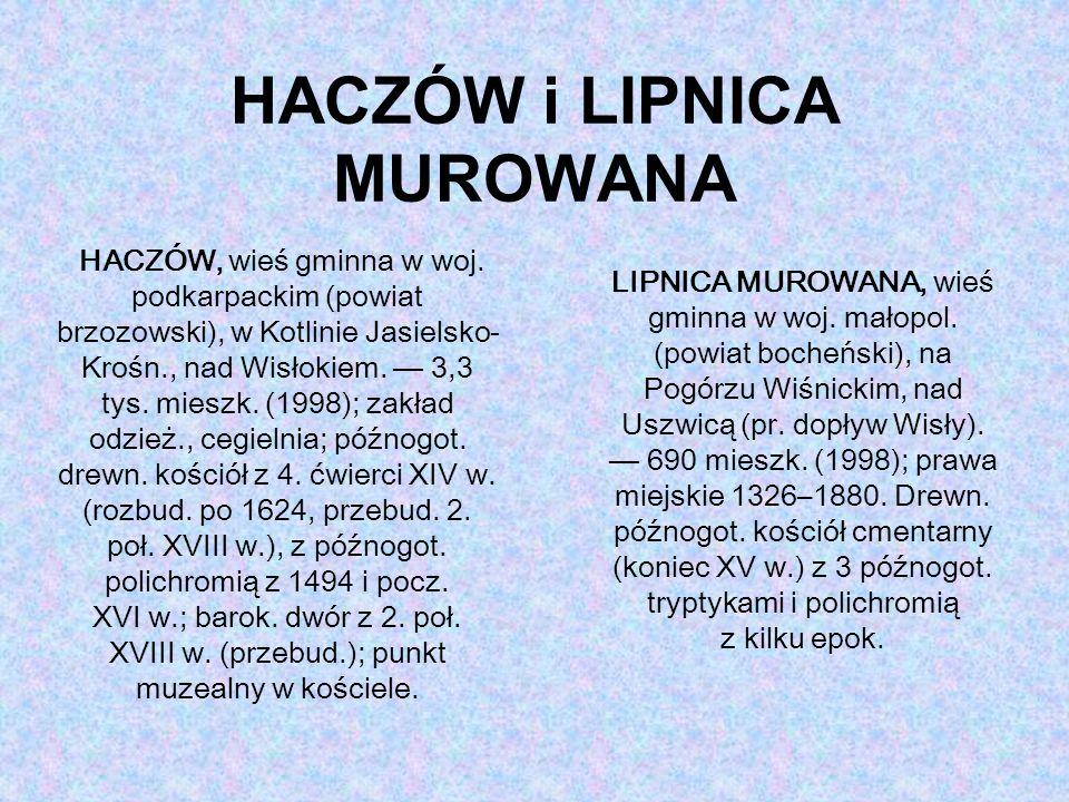 HACZÓW i LIPNICA MUROWANA