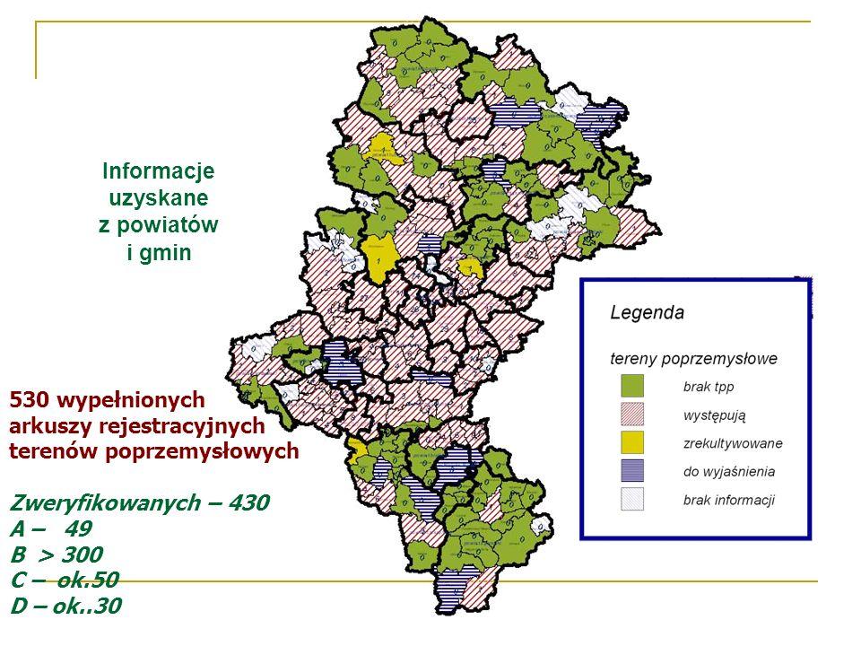 Informacje uzyskane z powiatów i gmin