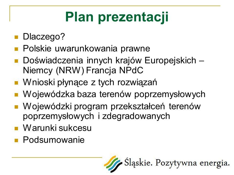 Plan prezentacji Dlaczego Polskie uwarunkowania prawne