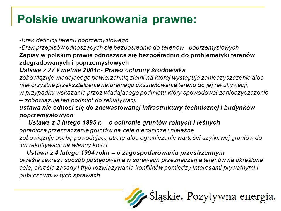 Polskie uwarunkowania prawne: