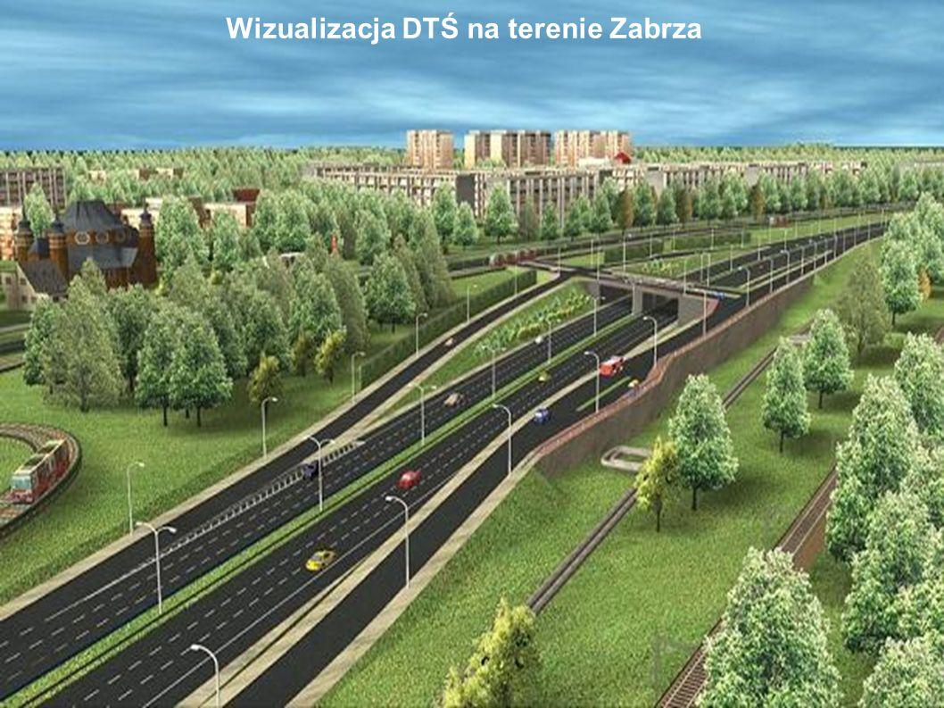 Wizualizacja DTŚ na terenie Zabrza