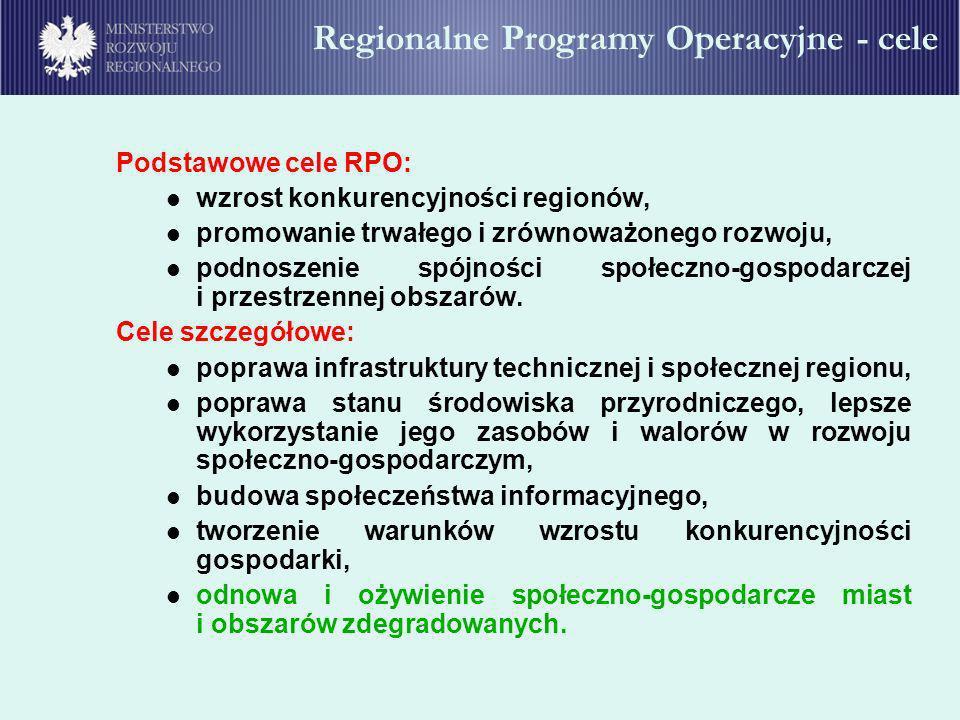 Regionalne Programy Operacyjne - cele