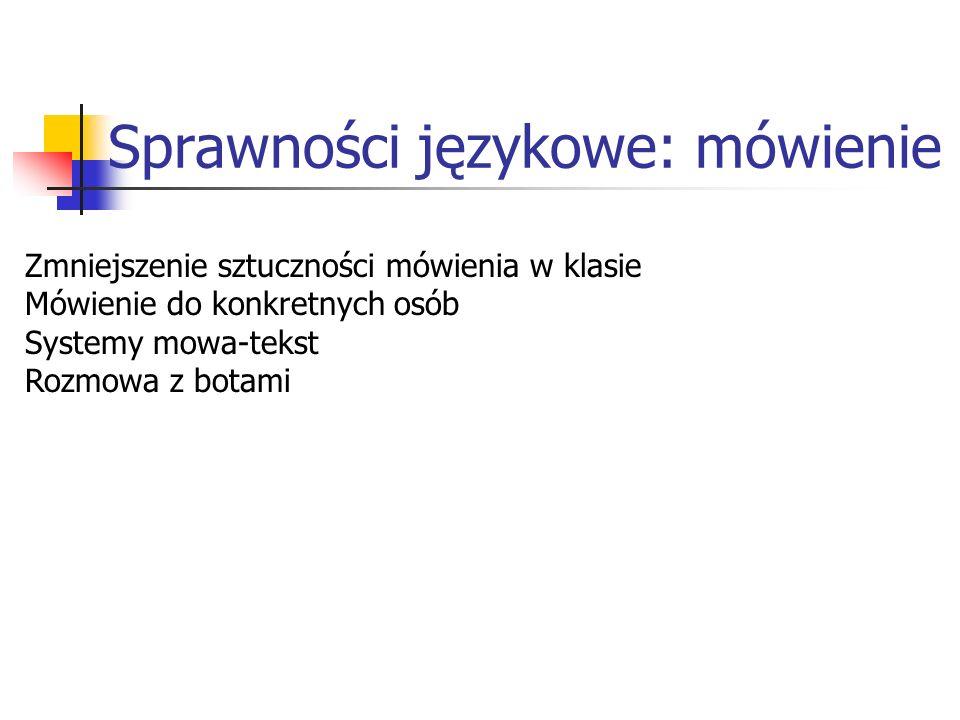Sprawności językowe: mówienie
