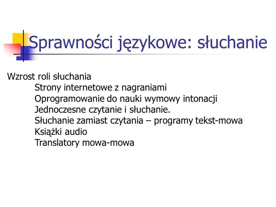 Sprawności językowe: słuchanie