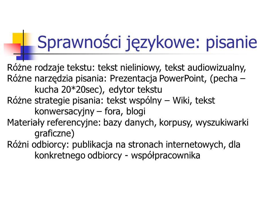 Sprawności językowe: pisanie