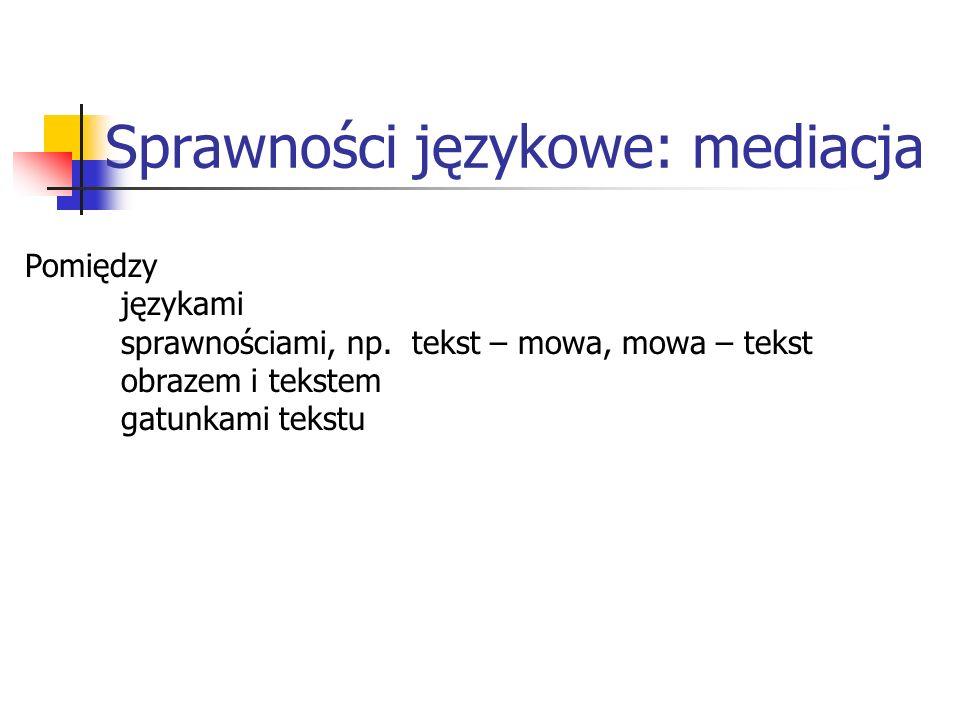 Sprawności językowe: mediacja
