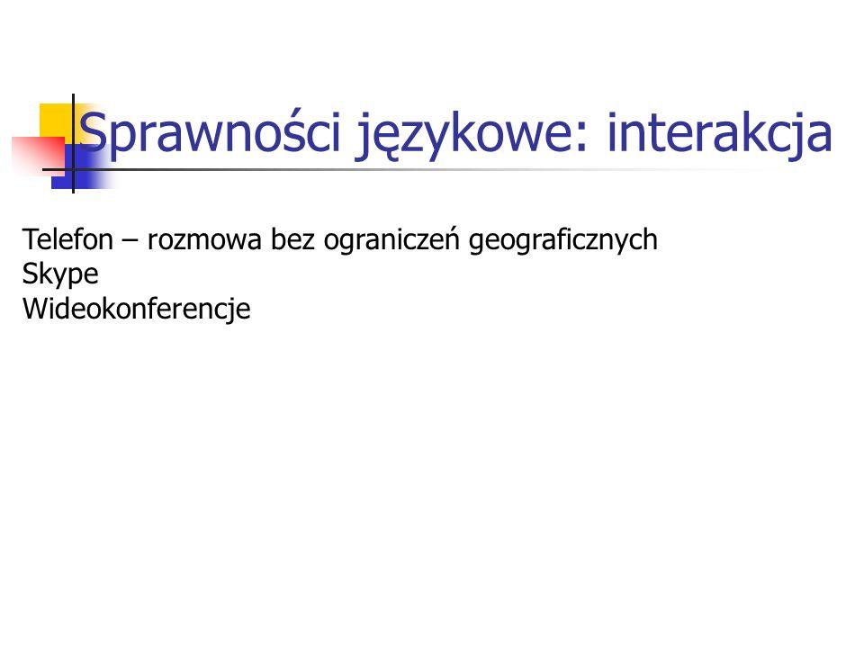 Sprawności językowe: interakcja