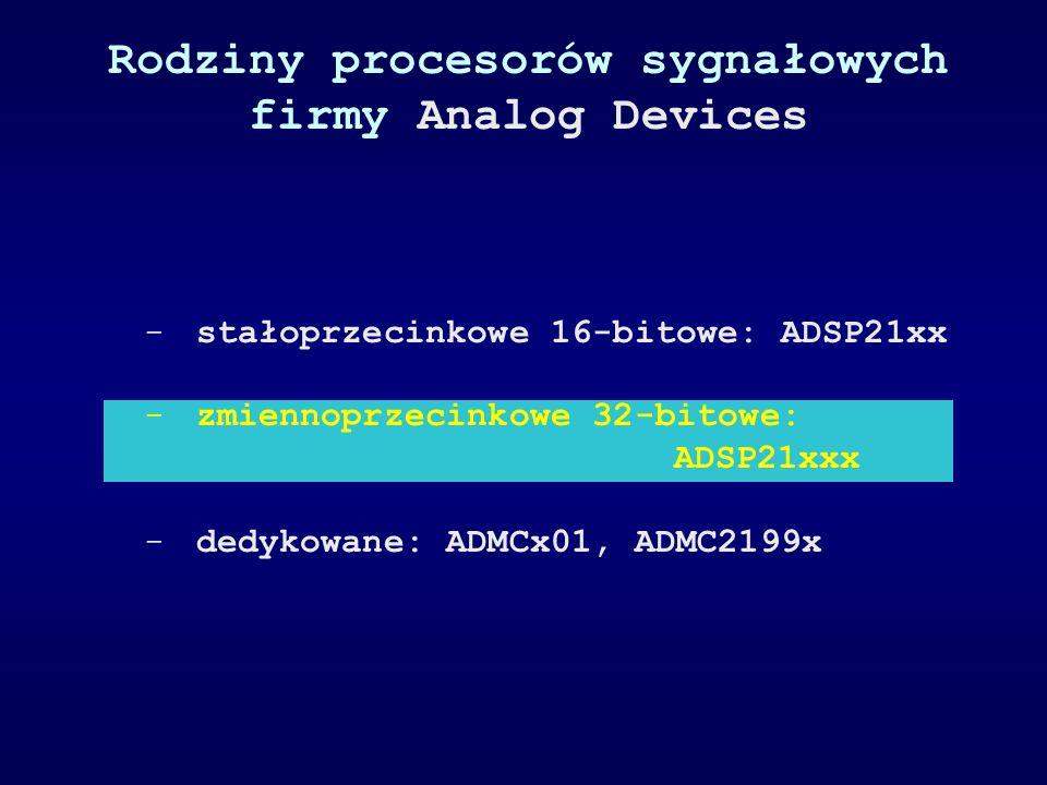 Rodziny procesorów sygnałowych firmy Analog Devices