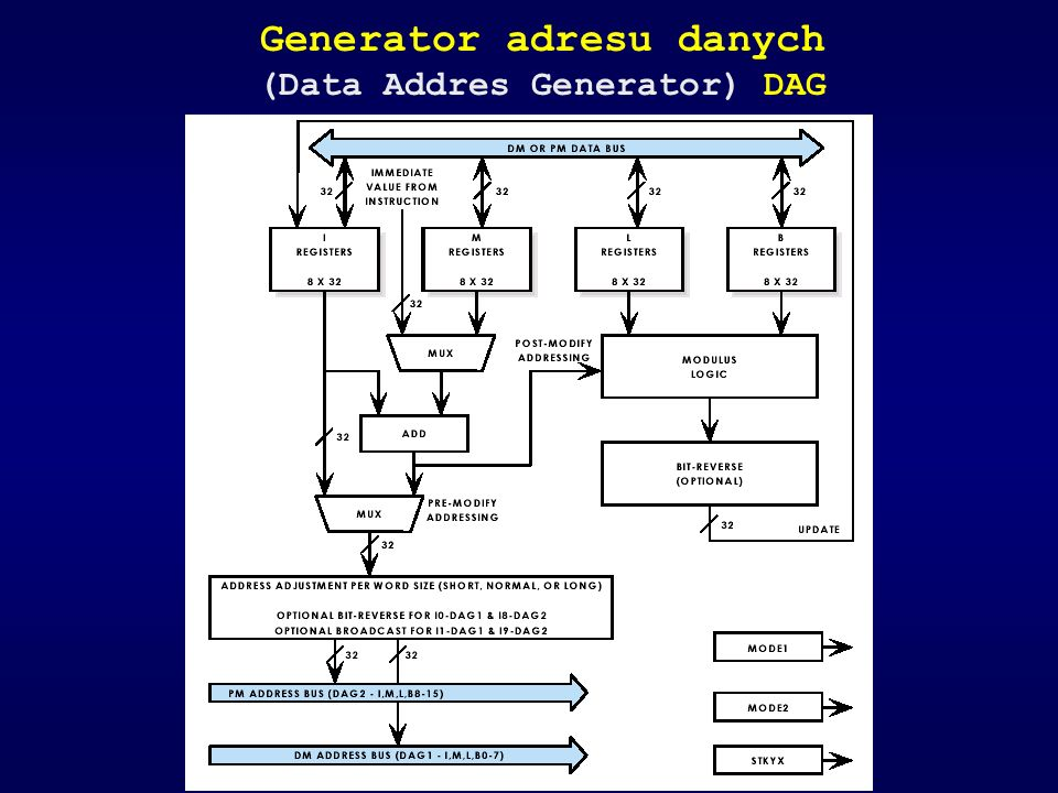Generator adresu danych (Data Addres Generator) DAG