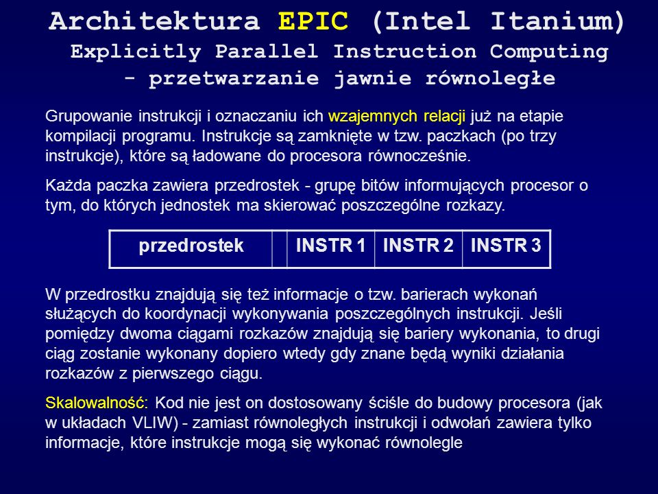 Architektura EPIC (Intel Itanium)