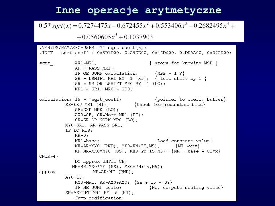 Inne operacje arytmetyczne