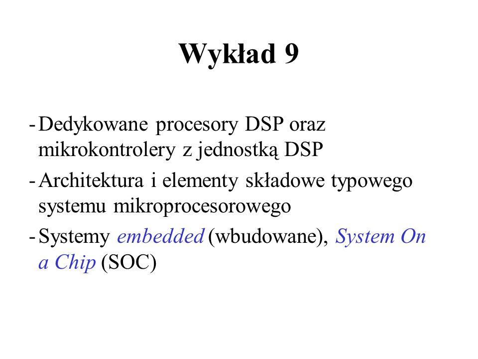Wykład 9 Dedykowane procesory DSP oraz mikrokontrolery z jednostką DSP