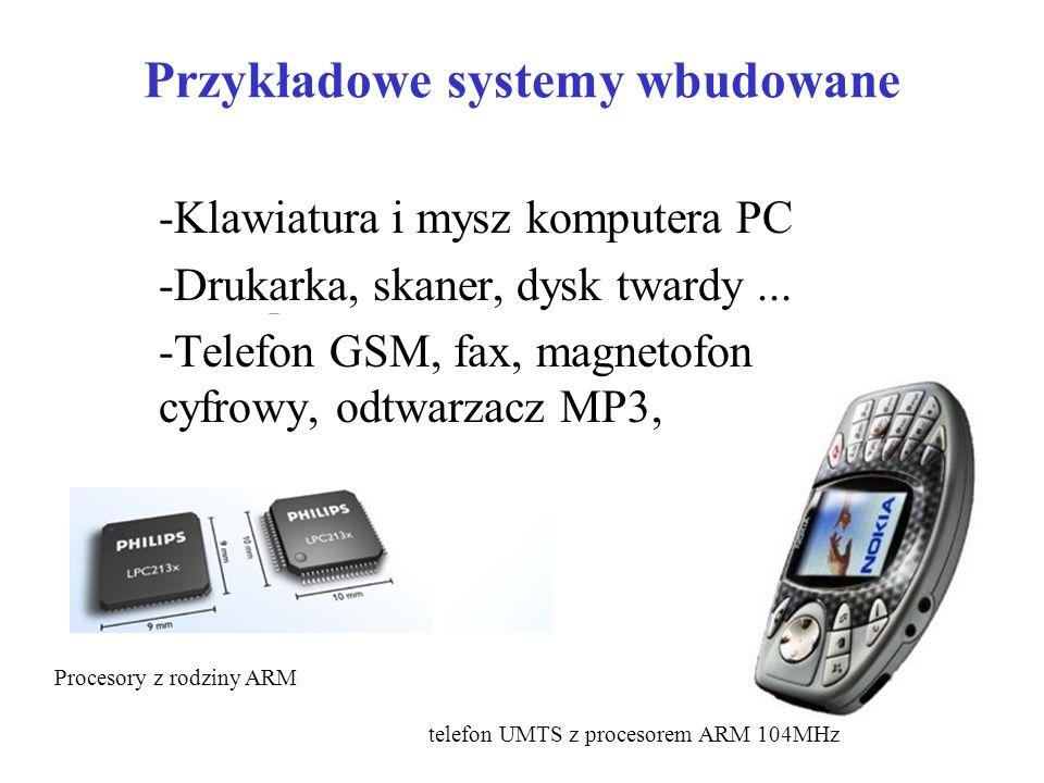 Przykładowe systemy wbudowane