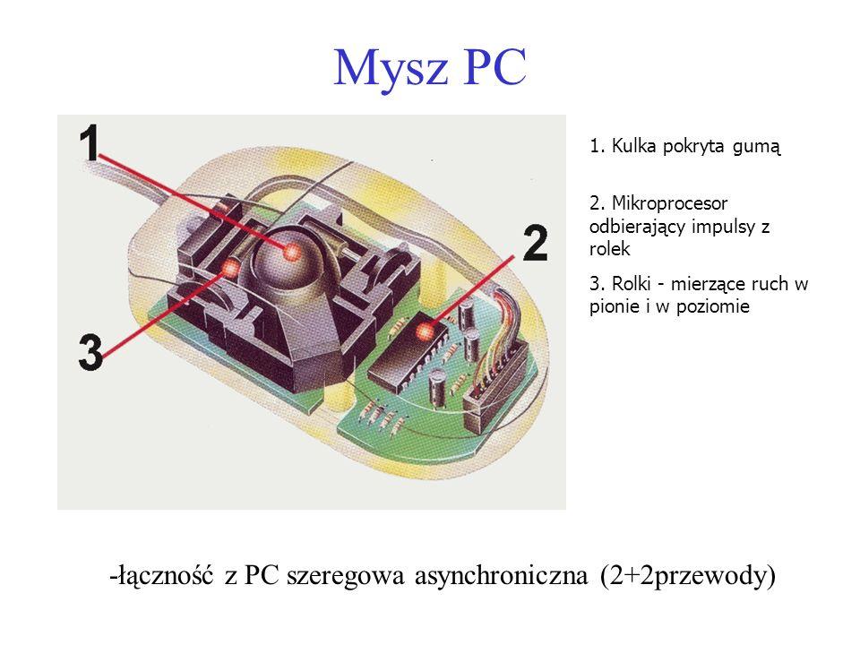 -łączność z PC szeregowa asynchroniczna (2+2przewody)