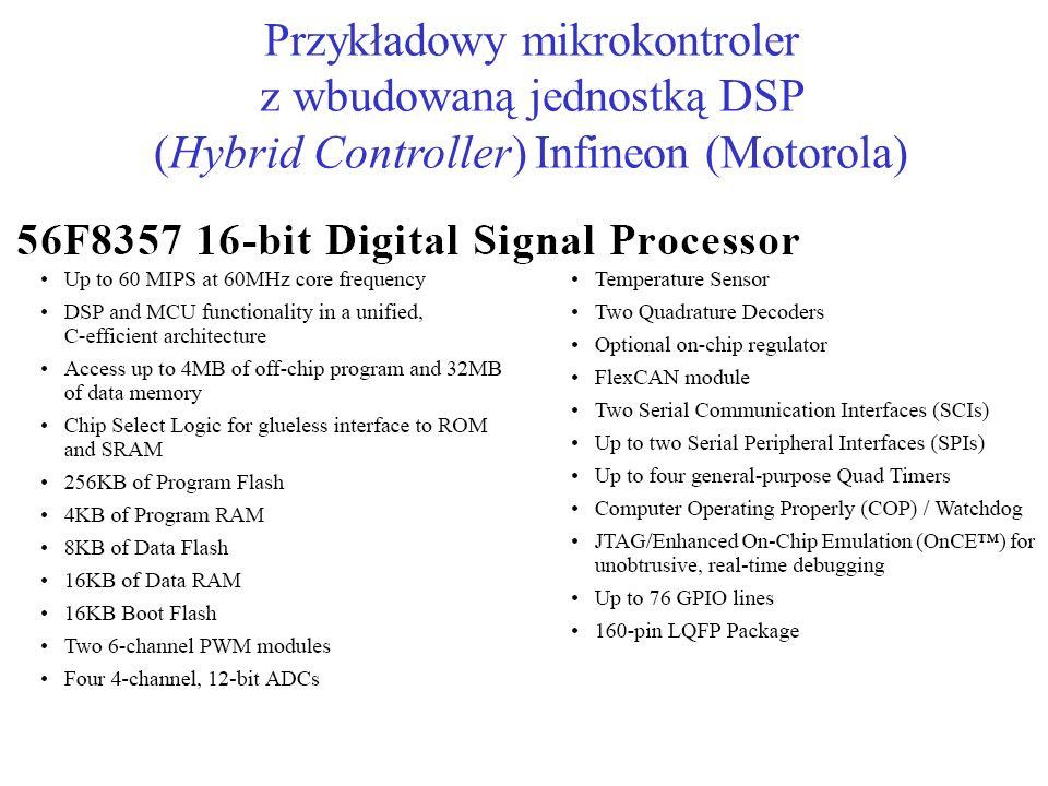 Przykładowy mikrokontroler z wbudowaną jednostką DSP