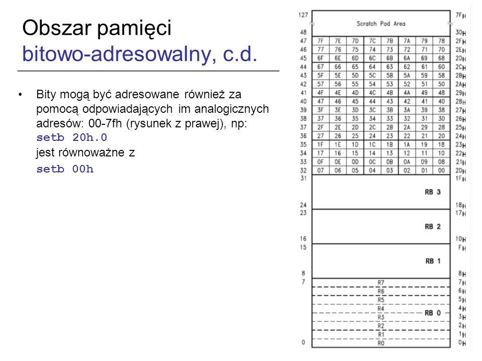 Obszar pamięci bitowo-adresowalny, c.d.