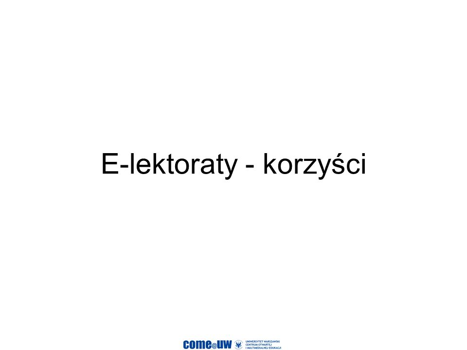 E-lektoraty - korzyści